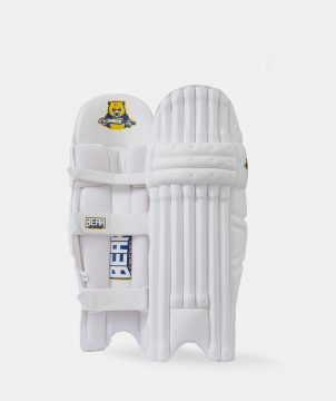 Junior white batting pads
