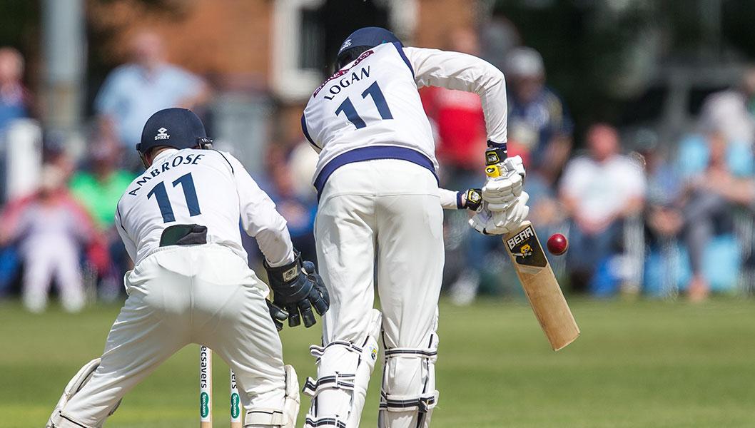 James Logan using the Kodiak cricket bat